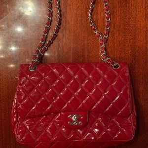 Red Patent Leather Chanel Bag
